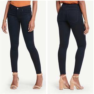 Ann Taylor Dark Blue Modern Skinny Jeans Petite 0